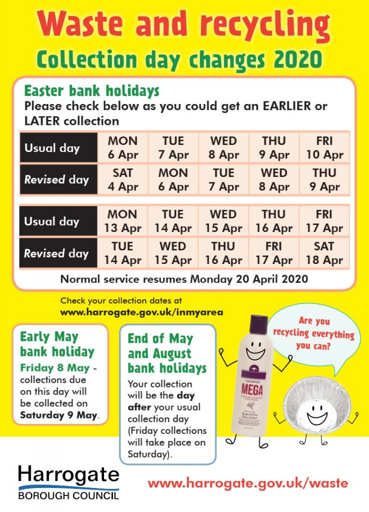 Waste and Recycling Collection Day Changes for Easter Holidays